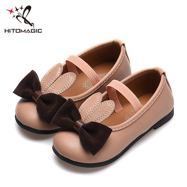 HITOMAGIC Girls Leather Shoes For Kids Baby Children Shoes Princess Child  Footwear For Autumn With Cartoon d3b004e78a59