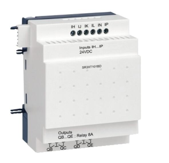 SR3XT101BD Logic Controller Discrete Expansion Module DC24V 6 Input 4 Relay Output