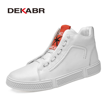 DEKABR 2019 Hot Sale Men Boots Fashion Warm Winter Men shoes Autumn Warm Footwear For Man New High Top Casual Leather Shoes Men