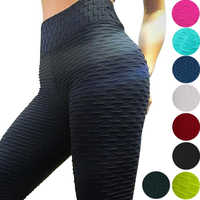 2019 Sexy Yoga Pants Fitness Sports Leggings Jacquard Sports Leggings Female Running Trousers High Waist Yoga Tight Sports Pants