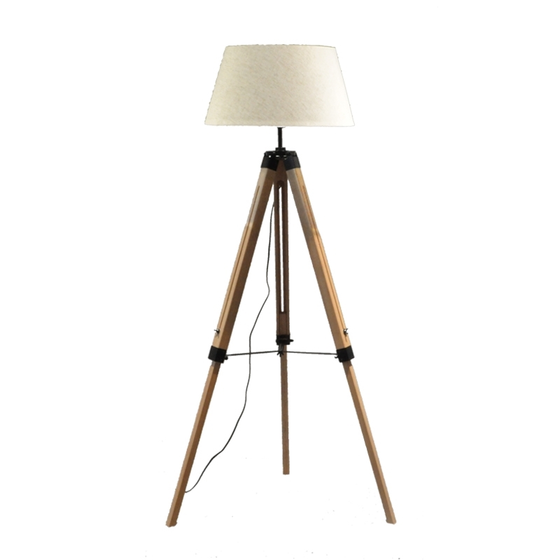 Retro Classical Wooden Tripod Standing Floor tripod Lamps Light Fabric Lampshades Classical Chinese Bedroom Bar Living Room modern wood table floor lamp living room bedroom study standing lamps fabric decor home lights wooden floor standing lights