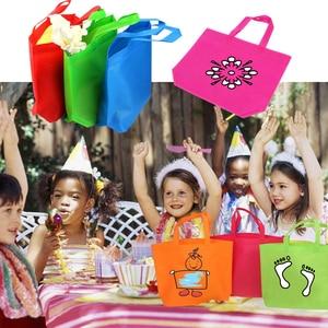 Image 5 - 10 Máy Tính Đa Năng Tặng Túi Đựng Quần Áo Trẻ Em Sinh Nhật Ủng Hộ Không Dệt Trị Túi 7 Màu có Tay Cầm Túi DIY Tặng Túi
