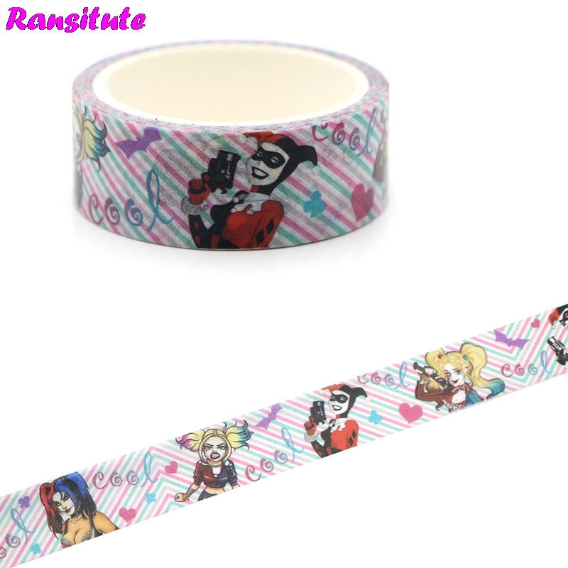 Ransitute R451 Horror Movie Washi Tape Gift Box Color Masking Tape Decorative Detachable Sticker