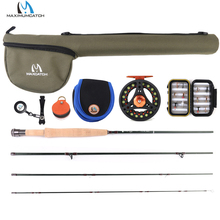 Maximumcatch Small Stream Creek Fly Fishing Rod Aluminum Reel Line Kit 6ft-7.6ft 1/2/3wt maximumcatch 9ft 5wt pink fly fishing rod with reel and line combo medium fast fly fishing rod kit