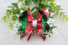 4.5 inches christmas ribbon of hair bows, mix colors,cheap,2012 sell hot, free shipping!