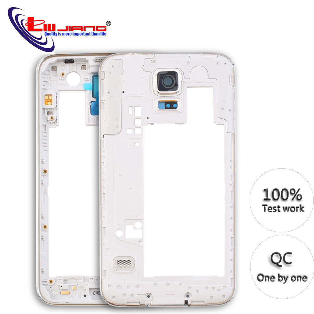 Middle Housing For Samsung Galaxy S5 G900 G900F G900A G900H G900P Middle Frame Back Bezel Replacement Repair Parts