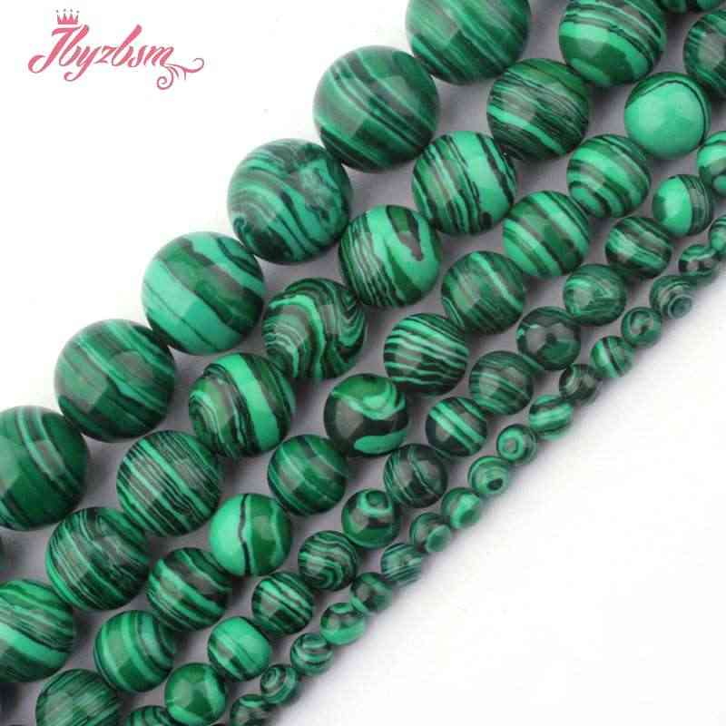 """6,8, 10 мм, круглые бусины мяч искусственные зелёные малахитовые каменные бусины для самостоятельного изготовления Цепочки и ожерелья браслета изготовление сережек 15 """"Бесплатная доставка"""