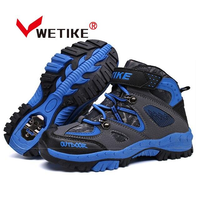46dcd8064a462b WETIKE Enfant de Randonnée Chaussures de Sport Escalade Bottes Anti-slip  Trekking Randonnée Neige Bottes
