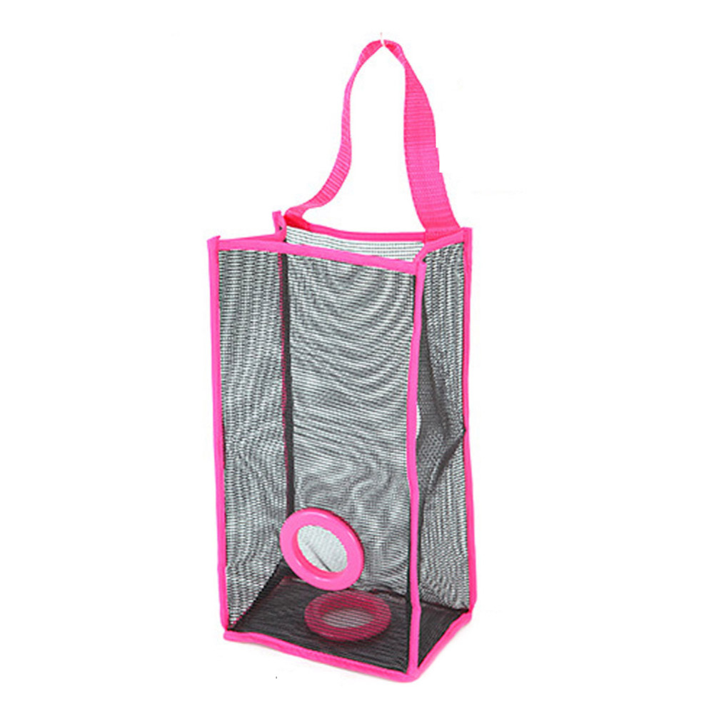 US $2.19 14% OFF|Hanging breathable grid kitchen garbage bags Kitchen  Storage Bag Organizer For The Sundries Disposable Bag Kitchen  Accessories-in ...