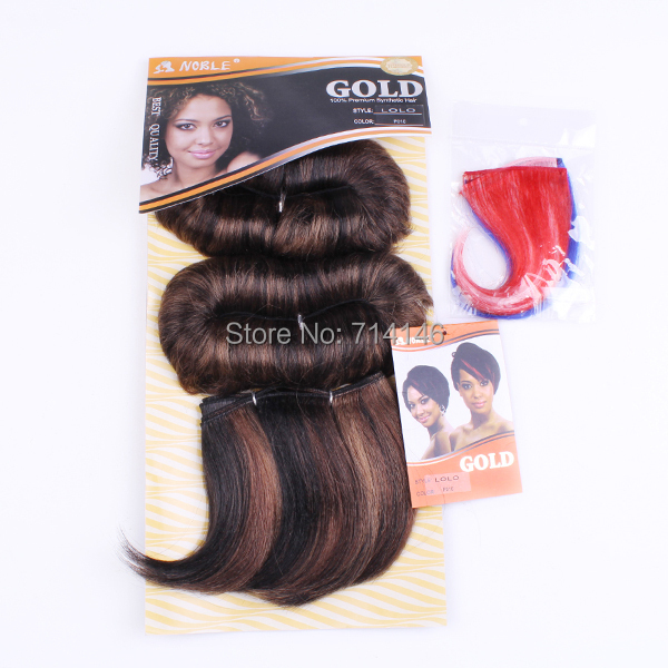 Wholesale Price Noble Gold Hair Lolo Styling Synthetic Hair