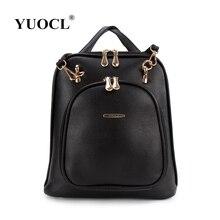 Yuocl 2017 mujeres de la marca famosa mochila college school student bolsas mochila hombres mochila mochila bolsa de ordenador portátil mochilas a prueba de agua