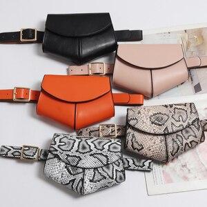 2020 New Fanny Pack Women Waist Belt Bag serpentine Vintage Waist Bags Girl Fashion Bum Pouch Phone Leather Chest Packss LW0808