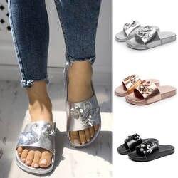 Лидер продаж; летние шлепанцы; женская обувь; женские пляжные сандалии на плоской подошве с блестками и блестящим лебедем; тапочки; zapatos de