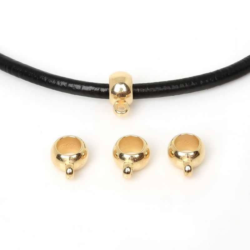 50 Uds. Oro/plata/rodio CCB chapado colgante Clip cierre cuentas de bola para DIY collar pulsera accesorios para hacer joyas