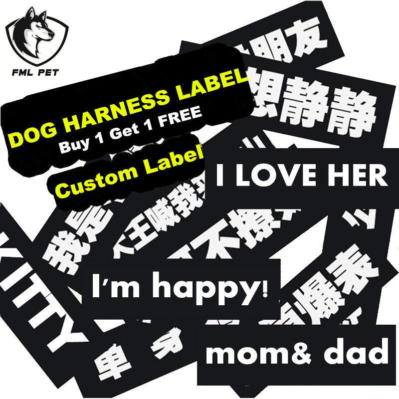 Fml Pet Id Tags Custom Stickers For Harness Collars For Dogs Pet Accessories Customized Personalized Pet Dog Cat Name Diy Logo