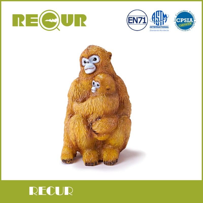 Recur Golden snub-nosed monkey figure Simulation Model Hand Painted Action Figures Wild Animal Toy Collection Gift For kids recur toys high quality horse model high simulation pvc toy hand painted animal action figures soft animal toy gift for kids