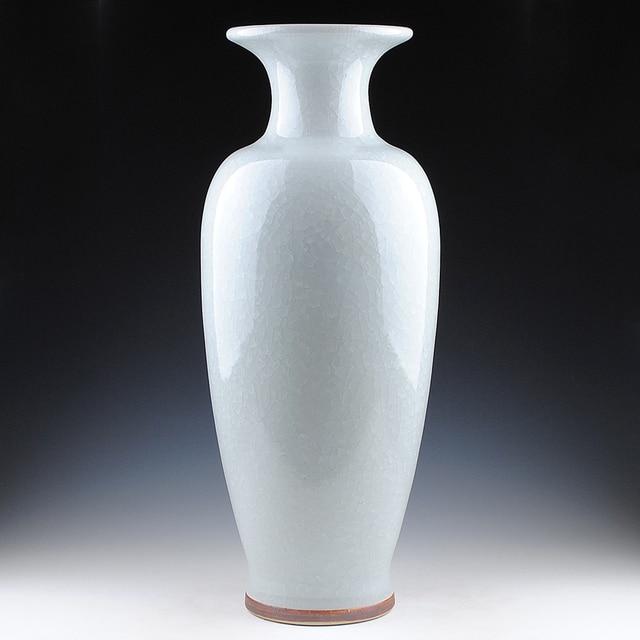 Jingdezhen Ceramics Porcelain Antique French Open Vase Fishtail