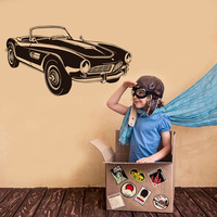 Retro Sports Car Wall Stickers Home Decor Living Room Great Classic Automotive Boy'S Room Headboard Decals Vinyl Art Sticker
