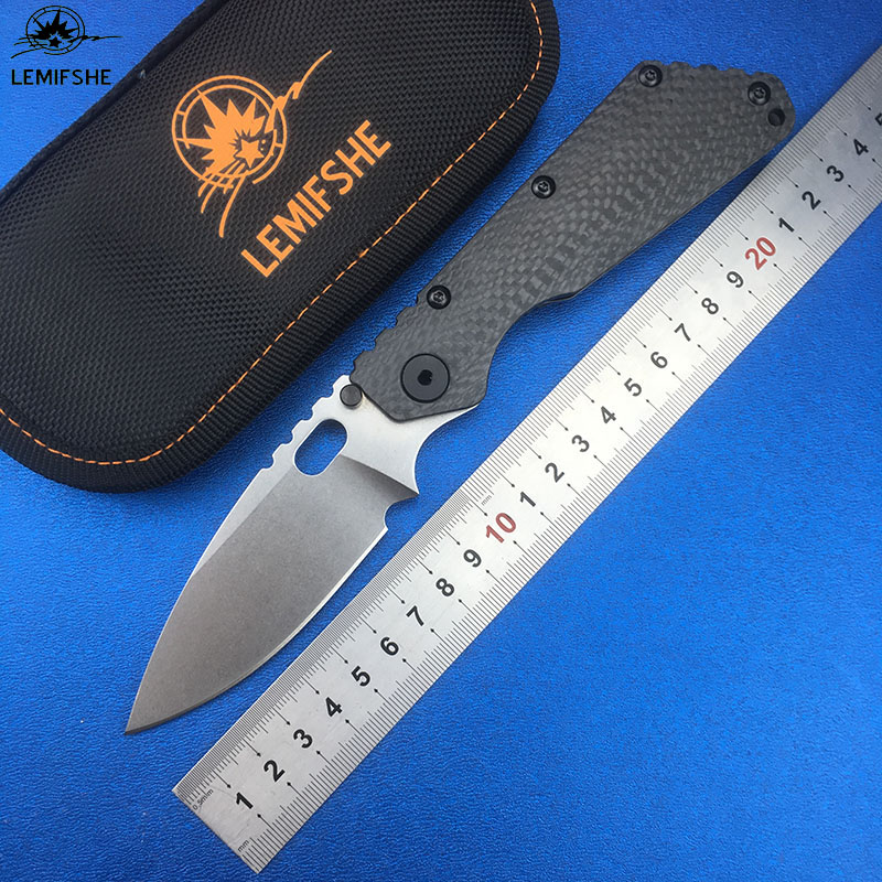 LEMIFSHE SMF Folding Knife D2 blade TC4 Titanium CF handle Copper washer kitchen outdoors camping utility fruit Knives EDC ToolsLEMIFSHE SMF Folding Knife D2 blade TC4 Titanium CF handle Copper washer kitchen outdoors camping utility fruit Knives EDC Tools