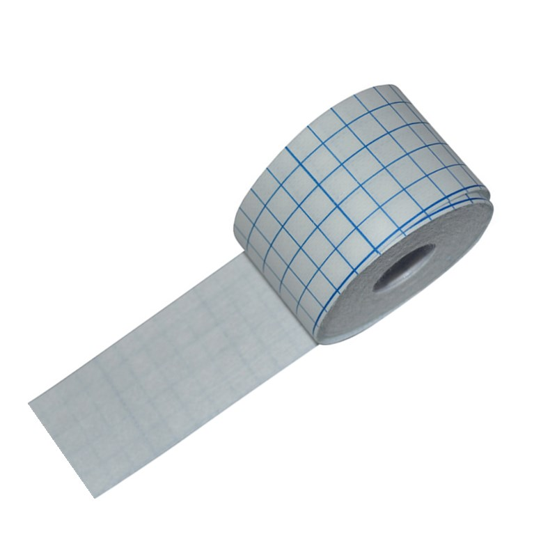 2 Roll Medical Fixation Non-woven Tape Breathable Adhesive Wound Dressing Bandage White Square Grid Design Feel Free To Cut