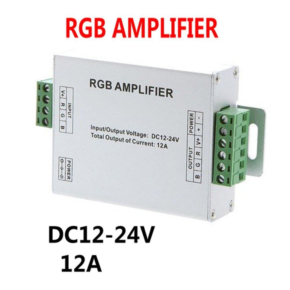 DC 12 ~ 24V 12A Wzmacniacz sygnału LED RGB Wzmacniacz danych dla światła LED SMD 3528 5050
