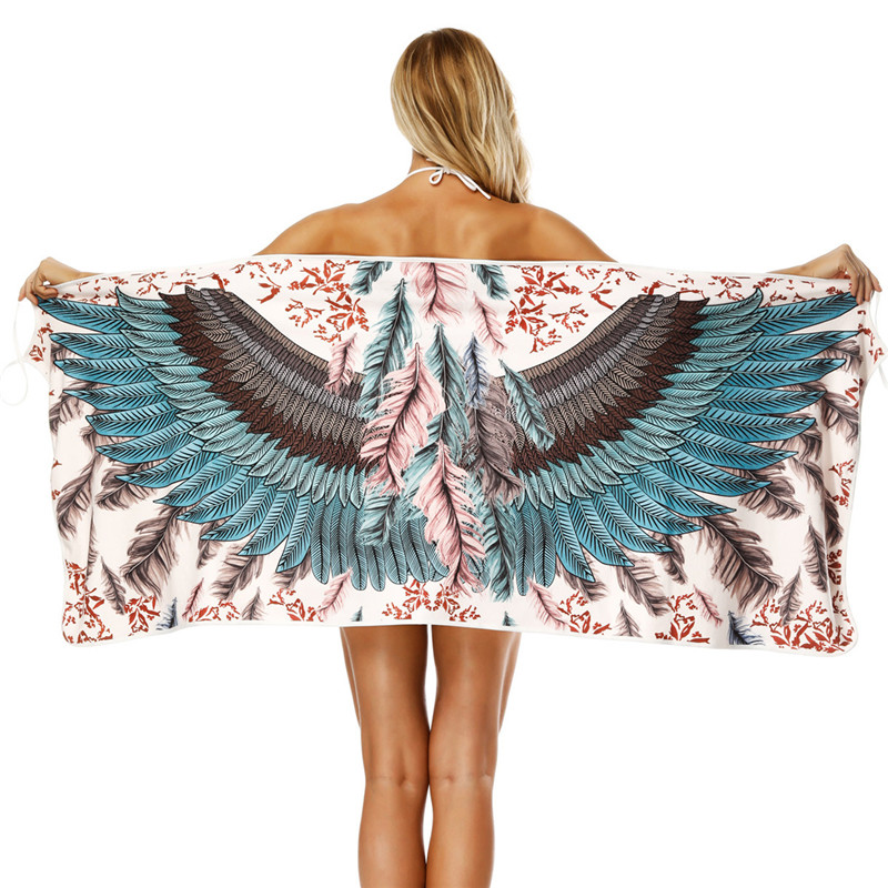 Bath Towel Sets Feather: Aliexpress.com : Buy Peacock Feather Printing Sling Bath