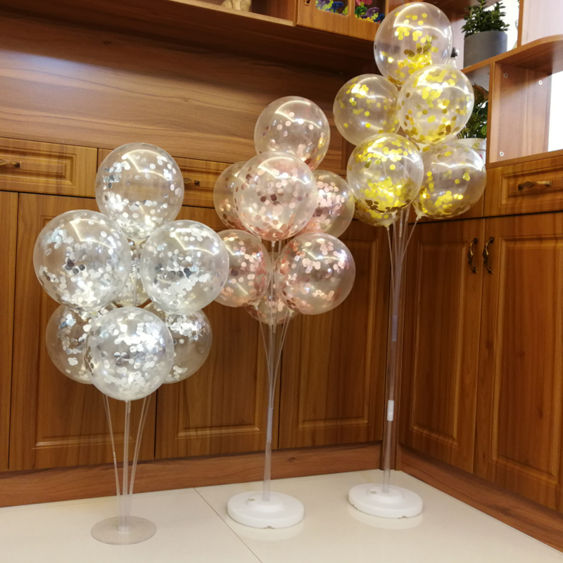 7/10 Tube Birthday Balloon Stand With Stick Holder For Wedding Decorations 24