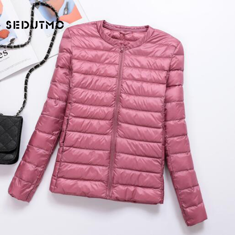 SEDUTMO Winter Ultra Light   Down   Jackets Women Plus Size 3XL Duck   Down     Coat   Short Puffer Jacket Black Autumn Parkas ED511