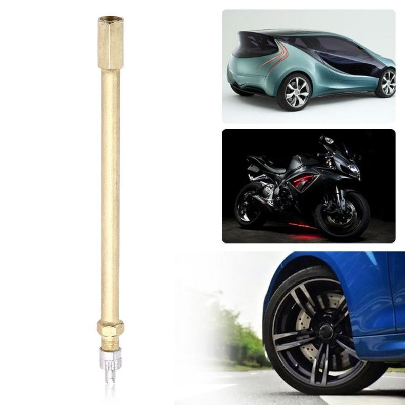 140mm Car Auto Truck Brass Wheel Tire Valve Cap Tyre Stem Extension Extender Tire Inflation Valve Stem Extender Automobiles Tool