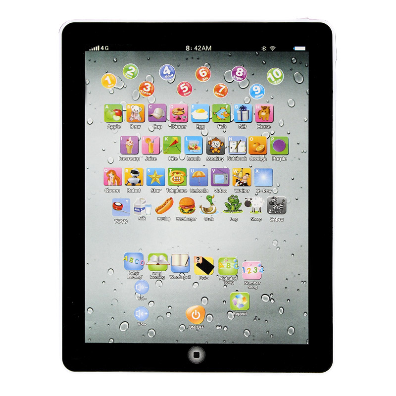 New Child Touch Type Computer Tablet English Learning Study Machine Toy For Children Kids Baby Puzzle Toy Gift YE11.27