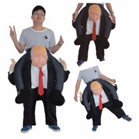 Humorous Toy US Riding On DT Donald Trump Dress Up Halloween Party Cosplay Cotton Clothes Saddle