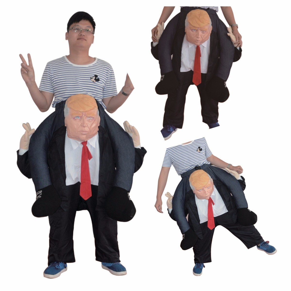 Novelty toy US Riding on DT Donald Trump Dress up Halloween Party Cosplay clothes Saddle Horse Outdoor toy Mascot Soft pants trump donald john trump think like a billionaire