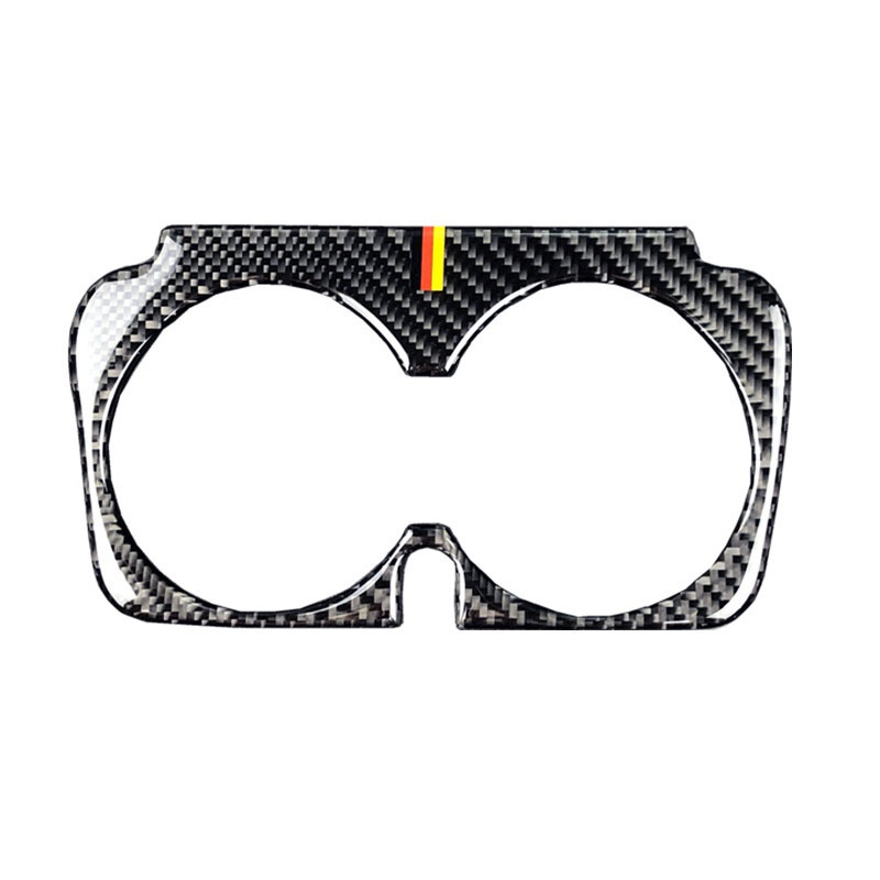 Car Carbon Fiber Water Cup Holder Frame Trim Sticker For Mercedes Benz C Class <font><b>W205</b></font> C180 C200 <font><b>C300</b></font> GLC image