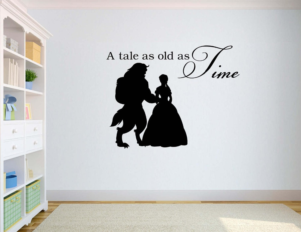 Beauty And The Beast Wall Decal Quotes A Tale As Old As Time Vinyl