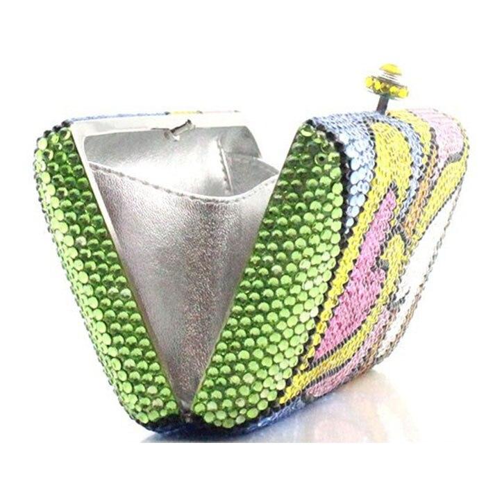 Day Coeur Femmes Embrayages Soirée Plaine Diamants As Cristal D'embrayage Plein Chaîne Main À D'impression De Sac Épaule Bourse Lady Color Pictur Sacs Same La Robe OOqxcdr64w
