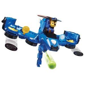 Image 2 - 2019 Paw Patrol zabawki samolot samochód dwa w jednym deformacji serii dźwięk i światło muzyka Action Figures zabawki dla dzieci prezenty