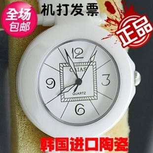 Women's watch ceramic ladies watch exquisite ceramic white ceramic table quartz watch the trend of fashion table