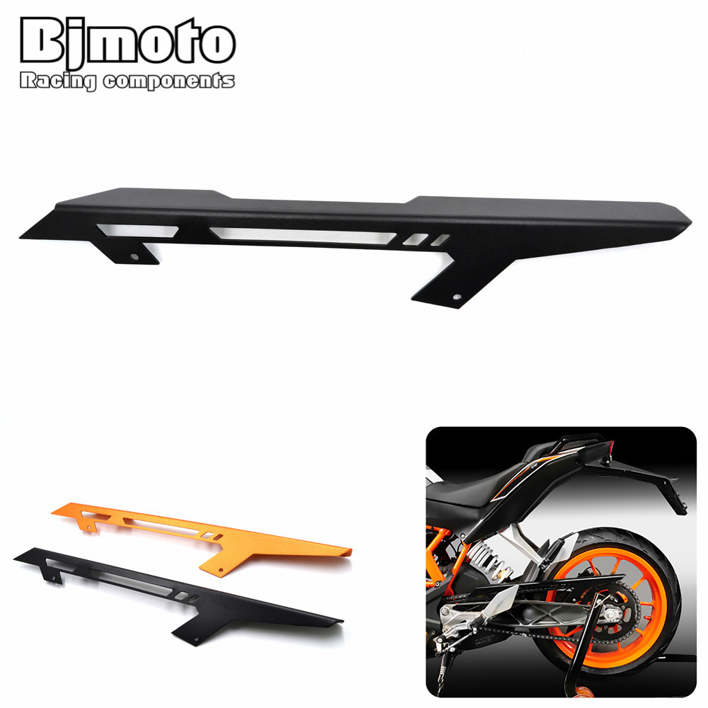 Bjmoto DUKE 125/200 Motorcycle Part Motorbike Chain Guards Chain Cover For KTM DUKE 125 200 DUKE 390 2013-2018 Chain Guard Cover motorcycle spring for cf400 duke ktm 125 duke 200 duke 390 handlebar balance bar can be stretched cross bar