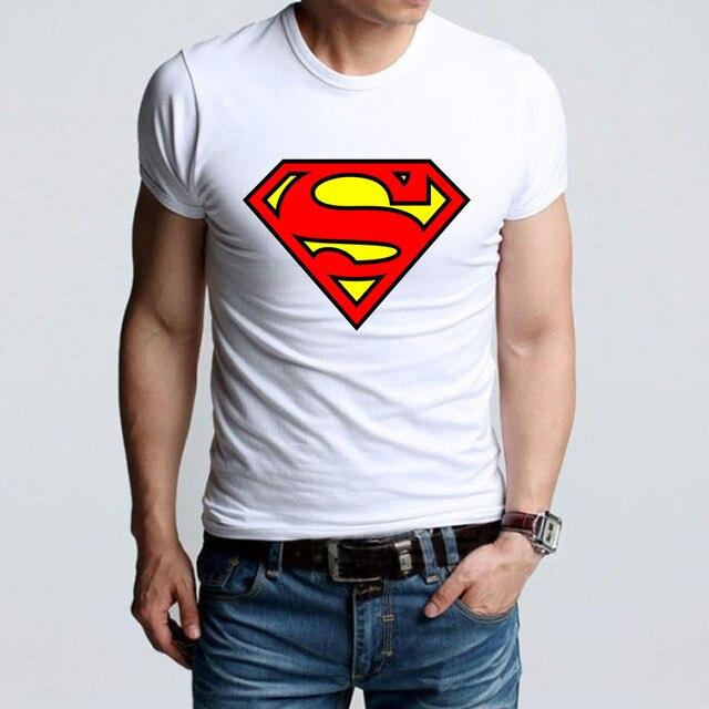 966030a0f0c High Quality t shirt Summer Band Super Men Logo Printing TShirts New Cute  Style SuperMen T shirt Men s Tee Shirts