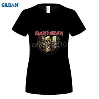 GILDAN Tee Shirt Iron Maiden Women T Shirt 3d Homme Music Band Heavy Metal Clothing Cotton