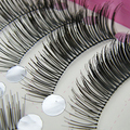 Hot Fashion 2015 10 Pairs Man-made Long Thick False Eyelashes Beauty Makeup Eye Lashes Extension 6FE2