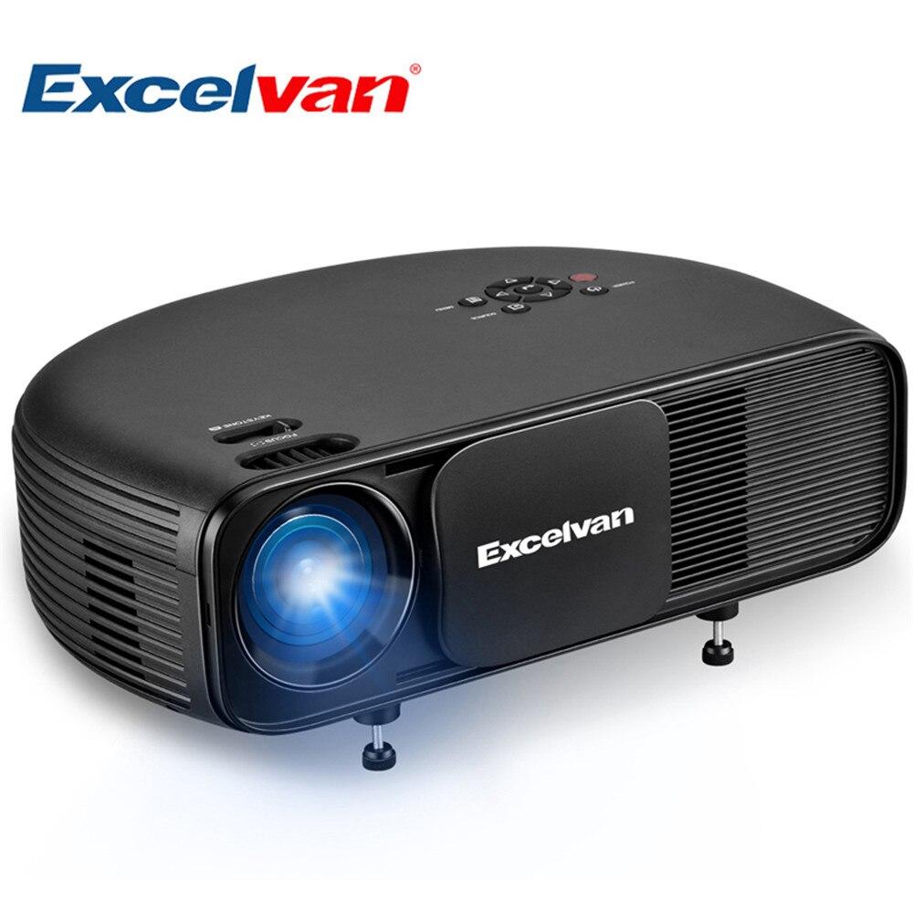 Excelvan CL760 обновлен CL720 HD ЖК-проектор 3200 люмен 1280*800 светодио дный 1080 P видео игры ТВ дома Театр Projecyor фильм проектор