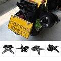 Новый черный мотоцикл регулируемый держатель номерного знака крепление задний кронштейн автомобильные аксессуары