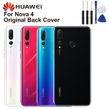 Original Huawei Battery Glass Back Cover Door For NOVA 4 NOVA4 Rear Housing Protective Phone Cases
