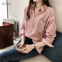 ac9fad00e89 Aliexpress.com   Buy Dangal Vintage Blouse Women Plus Size Long Sleeve  Blouse Womens Tops Striped Office Lady Shirt Blouses Feminine Shirt 2018  from ...