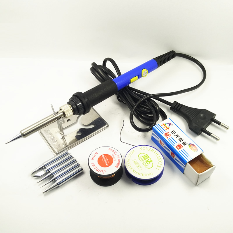 DGKS 60W Adjustable Temperature Electric Soldering Iron Set Welding Solder Station Heat Pencil Repair 10ps Tool Kit Power Switch