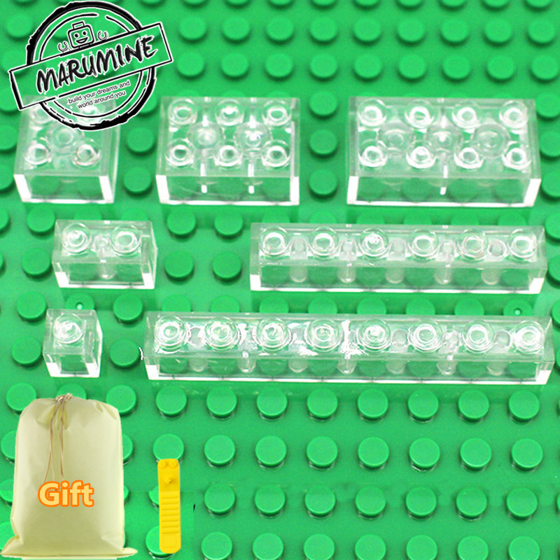 MARUMINE 2017 Brick Transparent Block Toys For Building City Educational MOC Bricks Parts Classic Learning Set loz mini diamond block world famous architecture financial center swfc shangha china city nanoblock model brick educational toys