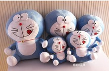 stuffed lovely doraemon toys plush naughty doll perfect gift about blue 35cm