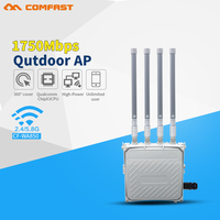 comfast 802.11ac 1750Mbps gigabit network wifi router 2.4G/5G dual band outdoor AP Expander 500mW 6PA with 4*8dBi wi fi antennas