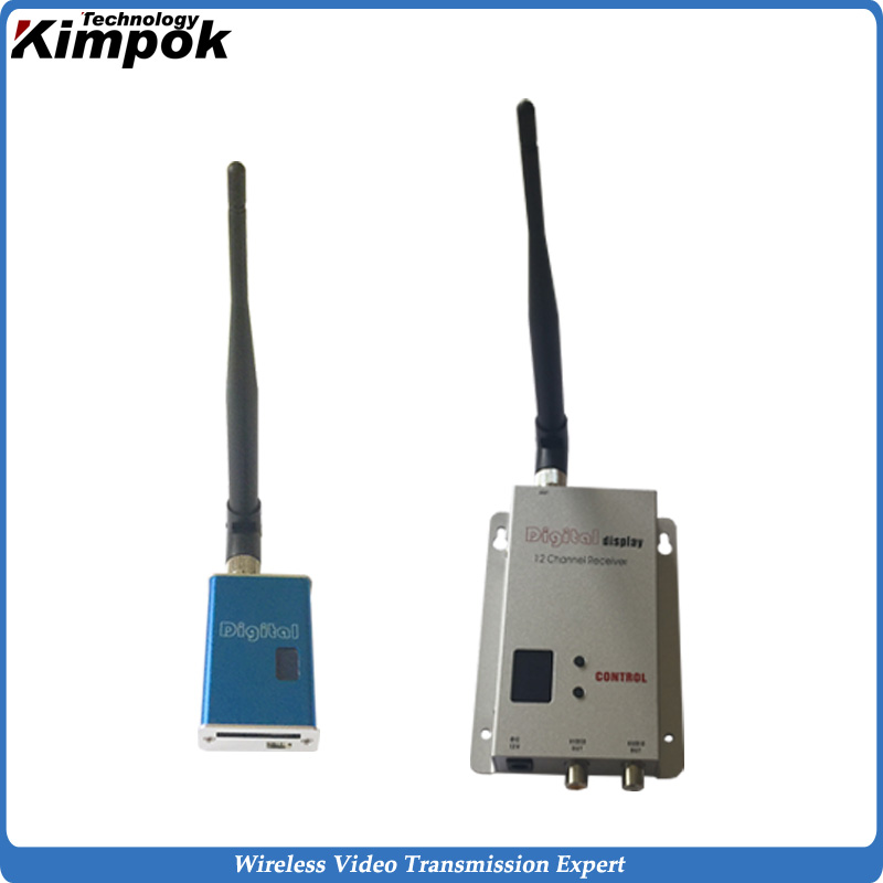 Mini FPV Wireless Transmitter and Receiver 5000mW Lightweight Wireless AV Transmitter 70km from air Long Range Image Sender